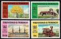 Serie de sellos Trinidad y Tobago ferrocarriles Nº 0409-12 (**)