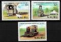 Serie de sellos Nauru ferrocarriles Nº 0211-13 (**)