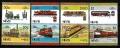 Serie de sellos Nevis ferrocarriles Nº 0353-60 (**)
