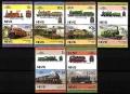 Serie de sellos Nevis ferrocarriles Nº 0299-310 (**)