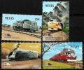Serie de sellos Nevis ferrocarriles Nº 0601-04 (**)