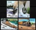 Serie de sellos Nevis ferrocarriles Nº 0606-09 (**)