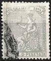 Serie sellos Cuba colonia española 0029. Alegoría de España (o)