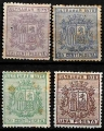 Serie sellos Cuba colonia española 0031-34. Escudo de España (*)