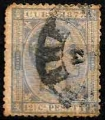 Serie sellos Cuba colonia española 0040. Alfonso XII (o)