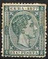 Serie sellos Cuba colonia española 0041. Alfonso XII (o)