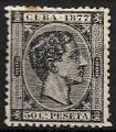 Serie sellos Cuba colonia española 0042. Alfonso XII (o)