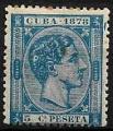 Serie sellos Cuba colonia española 0044. Alfonso XII (*)