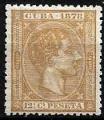 Serie sellos Cuba colonia española 0046. Alfonso XII (o/sg)