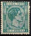 Serie sellos Cuba colonia española 0047. Alfonso XII (o)