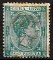 Serie sellos Cuba colonia española 0048. Alfonso XII (o)