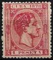 Serie sellos Cuba colonia española 0049. Alfonso XII (*)