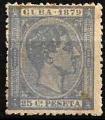 Serie sellos Cuba colonia española 0053. Alfonso XII (*)