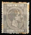Serie sellos Cuba colonia española 0054. Alfonso XII (o)