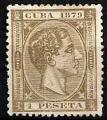 Serie sellos Cuba colonia española 0055. Alfonso XII (sg)