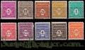 Serie sellos Francia 0620/29 (**). Gobierno Provisional