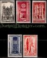 Serie sellos Francia 0663/67 (**)