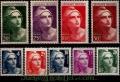 Serie sellos Francia 0725/33 (**)