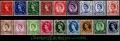 Serie sellos Inglaterra 0327/42 (**)