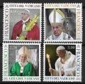 Serie sellos Vaticano S/N 2018. Papa Francisco