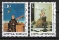 Serie sellos Vaticano S/N 2018. M. Agnesi y A. Secchi