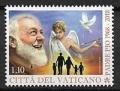 Serie sellos Vaticano S/N 2018. Aniv. Padre Pío