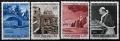 Serie sellos Vaticano 0393-96. Viajes del Papa
