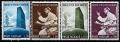 Serie sellos Vaticano 0434-37. San Benito Patrono de Europa
